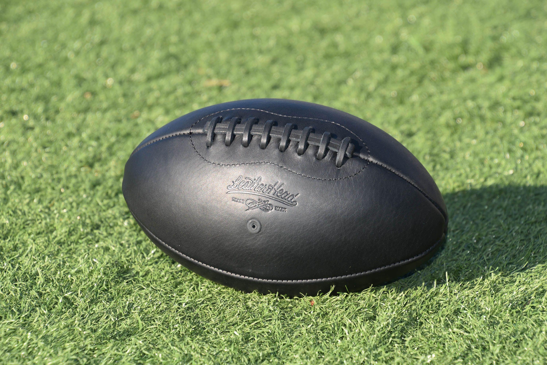 Onyx Football Turf Field Black Football Handmade American Made