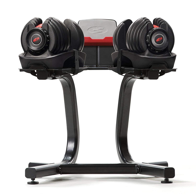 Amazon Com Bowflex Selecttech Dumbbell Stand With Media Rack Sports Outdoors Adjustable Dumbbells Bowflex Dumbbells