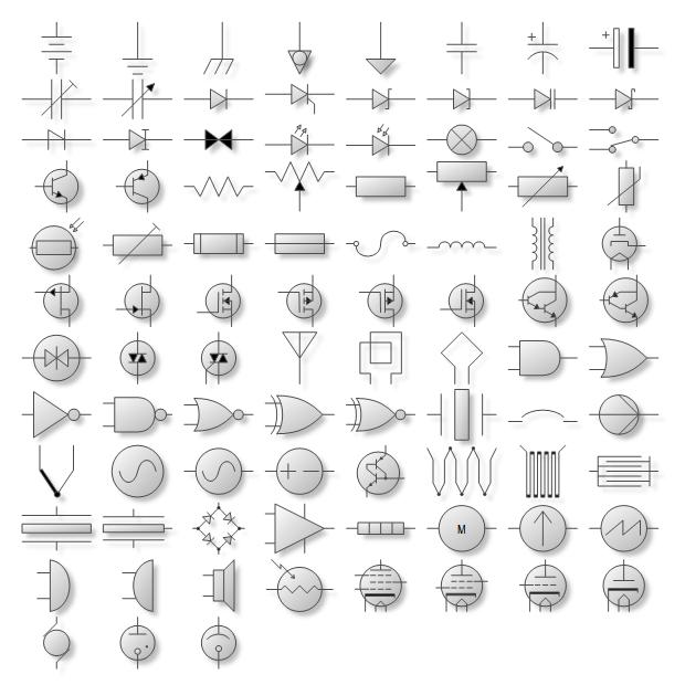 electrical symbol shapes ux and cx pinterest diagram symbols rh pinterest com