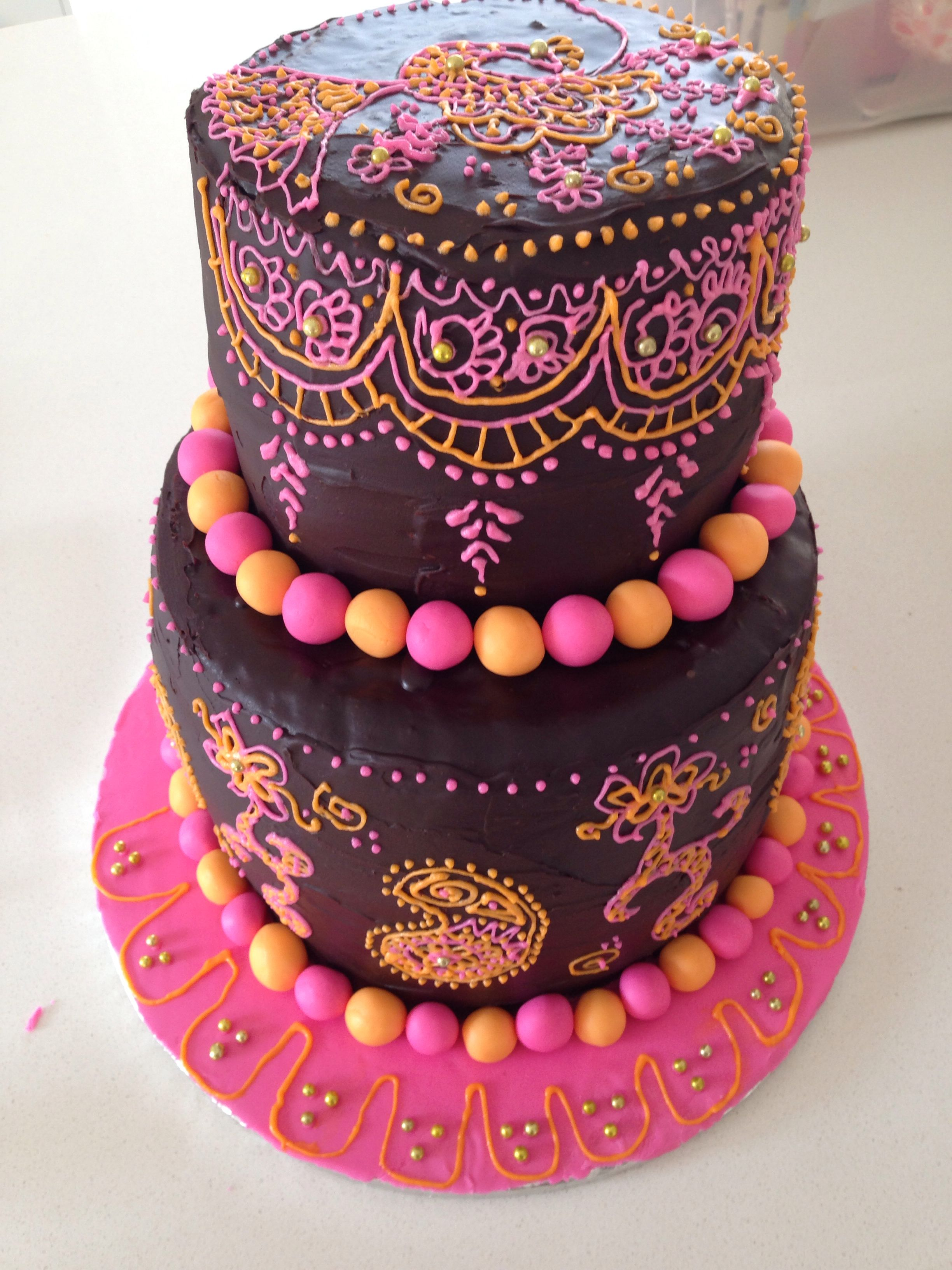 Henna Party Cake Kelly S Cakes Pinterest Party Cakes Cake And