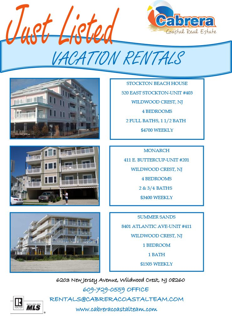 Vacation rentals in #Wildwood, #NJ. #Vacation #JerseyShore ...