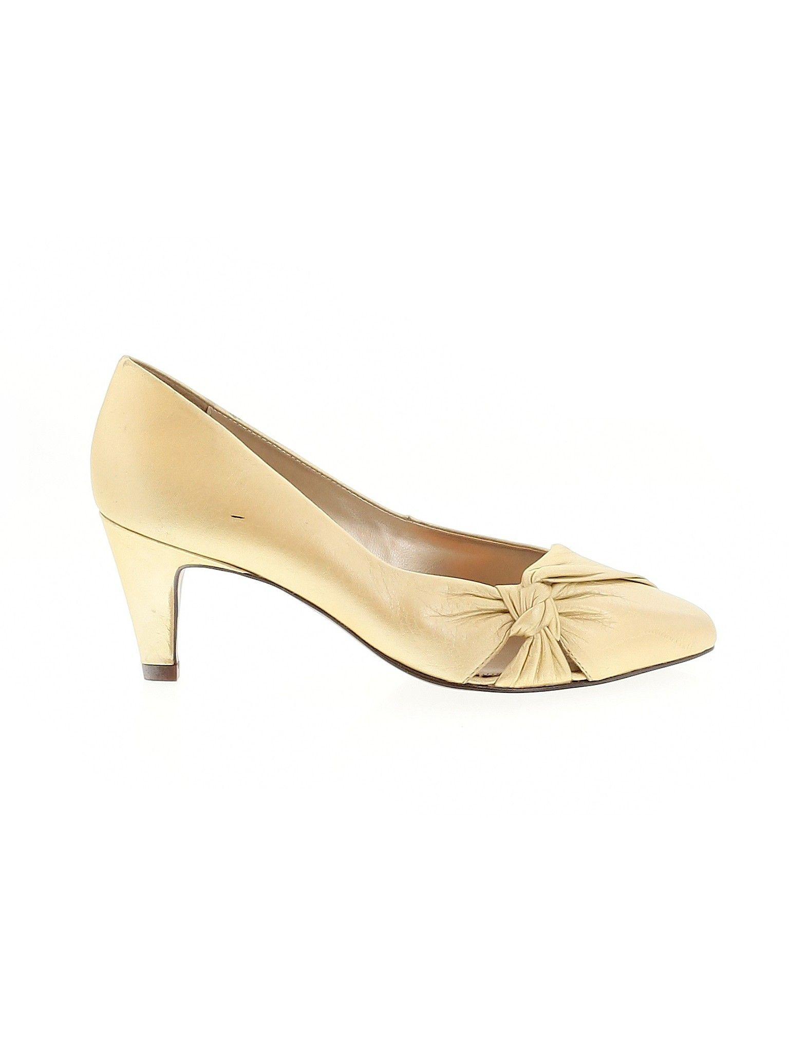 Connie Heel Gold Metallic Women S Shoes Size 6 Women Shoes