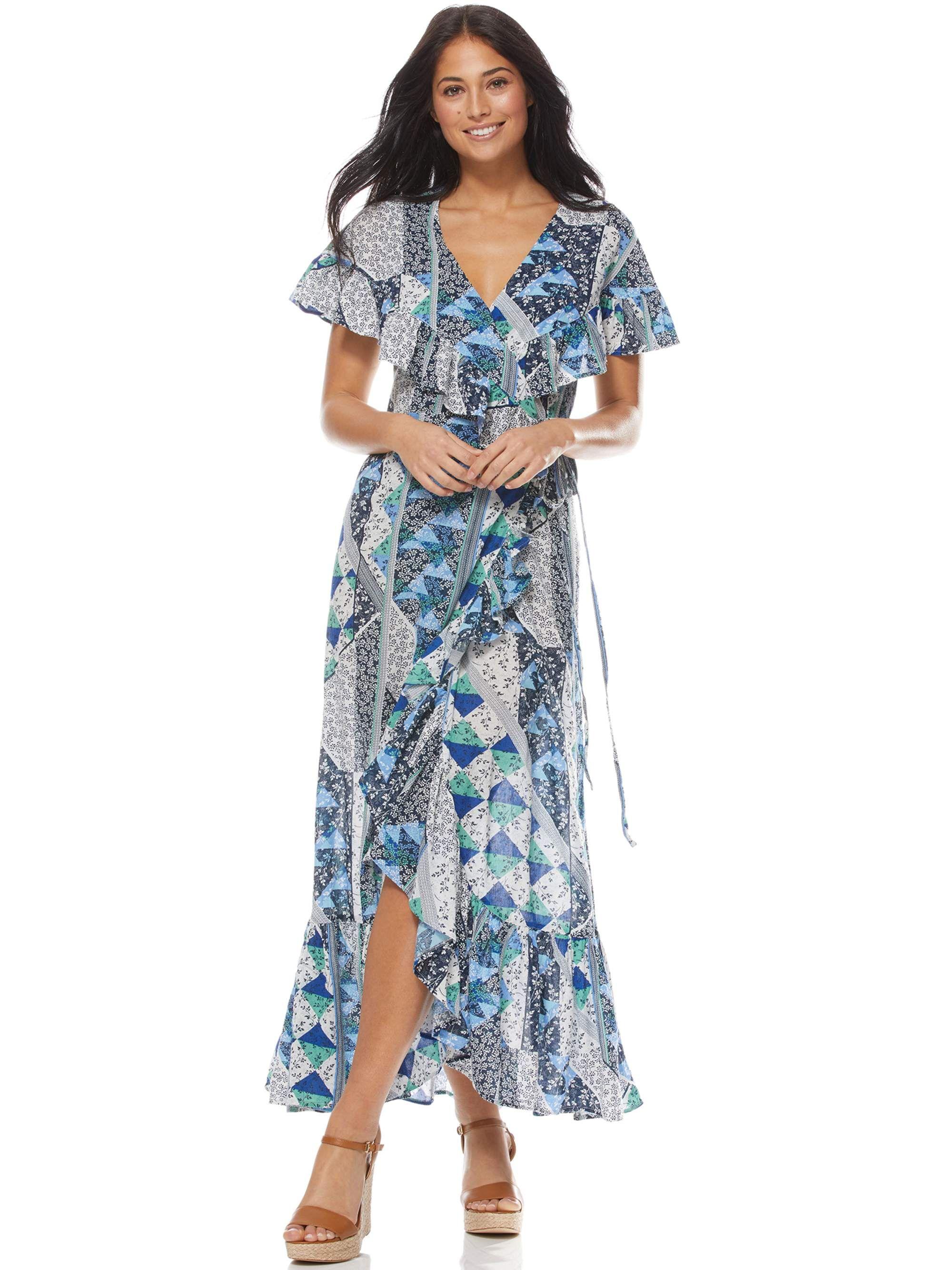 Free 2 Day Shipping Buy Sofia Jeans By Sofia Vergara Short Sleeve Wrap Maxi Dress Women S At Walmart Com In 2020 Maxi Dress Maxi Wrap Dress Clothes For Women [ 2667 x 2000 Pixel ]