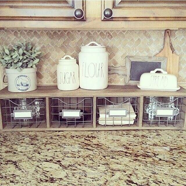 Kitchen Counter Organizer How To Finance Remodel Nice With Metal Basket Storage Drawers The Post Appeared First On 99 Decor