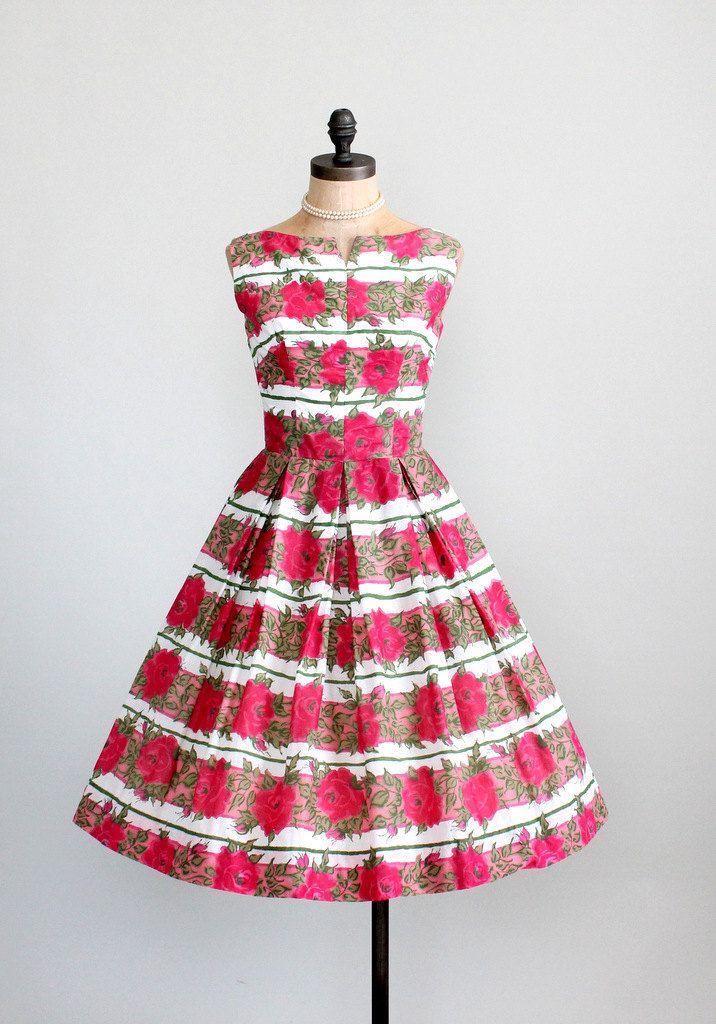 #fashion #floral #dress #1950s #partydress #vintage #frock #retro #sundress #floralprint #petticoat #romantic #feminine