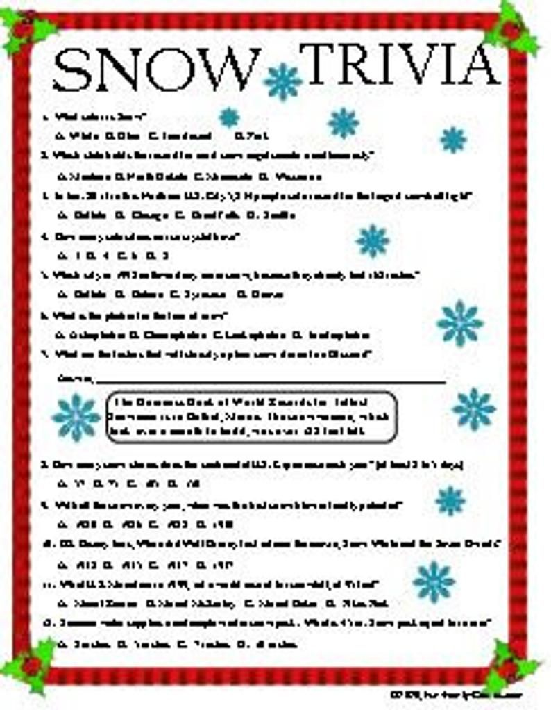 Christmas Trivia Fun for the entire family new games added | Etsy