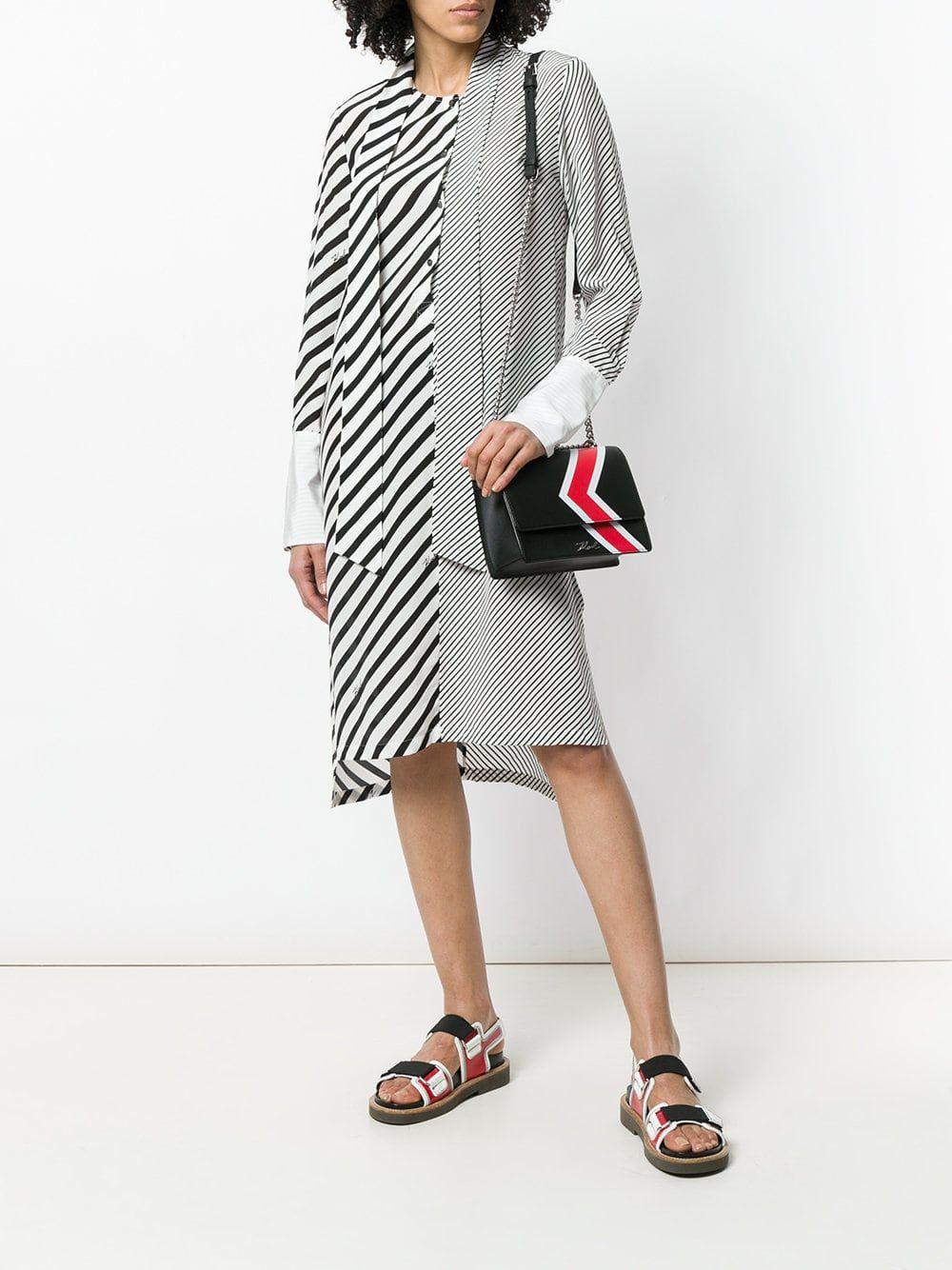 a1816946ac8ea4b Karl Lagerfeld полосатое платье-рубашка   полоска   Полосатое платье ...