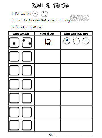 Sarah\'s First Grade Snippets | Penny game, Kindergarten and Coins