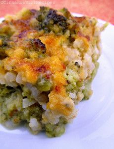 Broccoli Cheese Rice Bake | FaveSouthernRecipes.com
