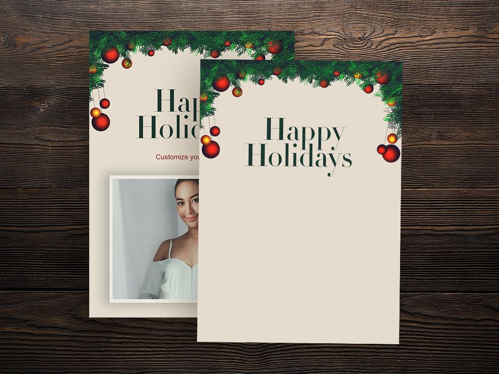 Simple customizable and Downloadable Christmas card template ...