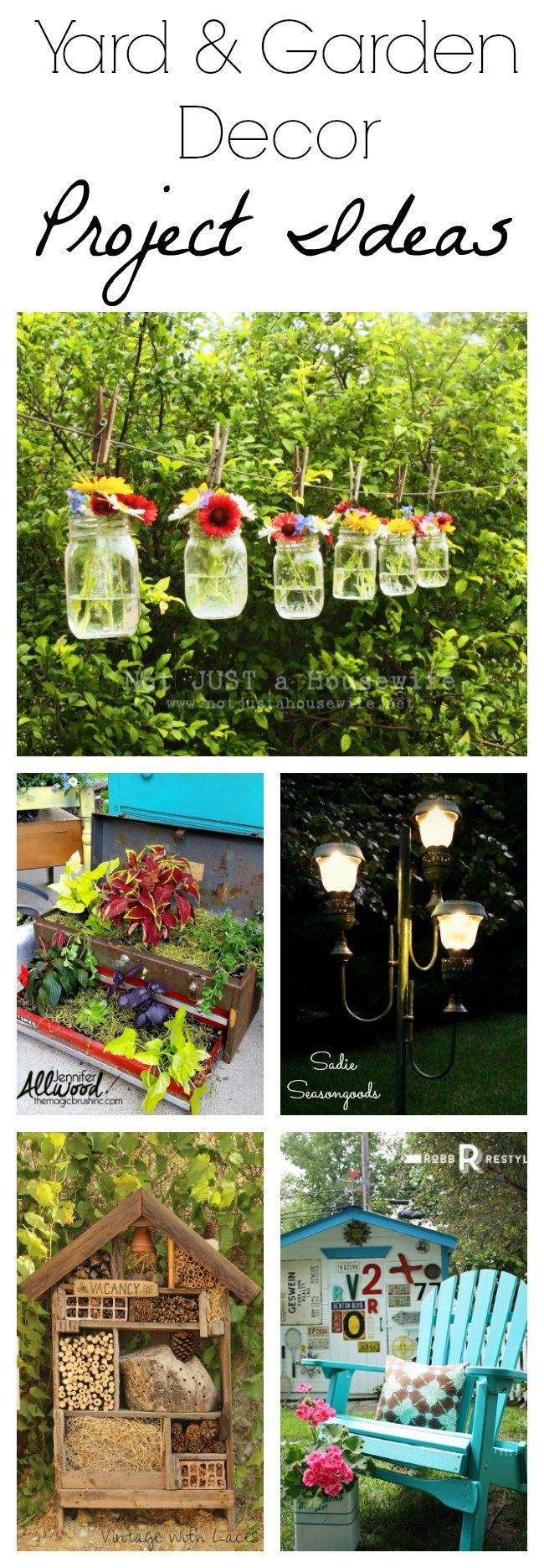 Looking for repurposed and upcycled garden decor ideas for Upcycled yard decor
