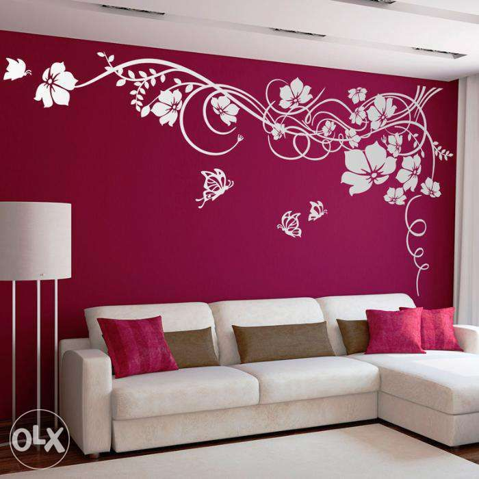 Cool Wall Designs For Living Room In Paint Wall Painting Designs