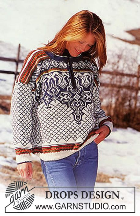 Knitting A Sweater Without A Pattern : Drops sweater in karisma superwash with or without zipper