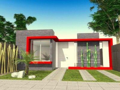 Fotos De Fachadas De Casas Bonitas De Un Piso Rojo Architecture Modern Architecture House Design
