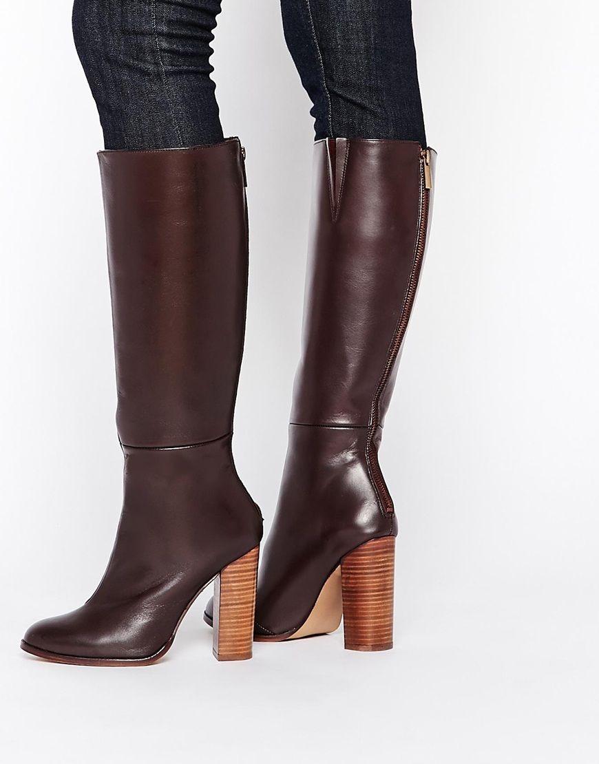 Buy Women Shoes / River Island Smart Zip Back Knee High Boots