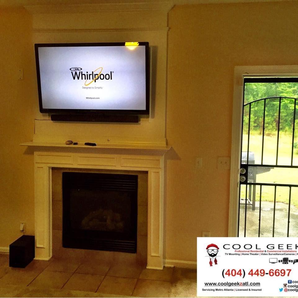 Fireplace Install Tv Wall Mount Installation Atlanta Homes