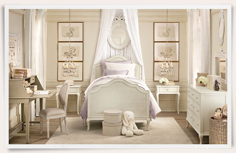 girl toddler rooms | Elegant baby girl room designs, from Baby & Child Restoration Hardware ...