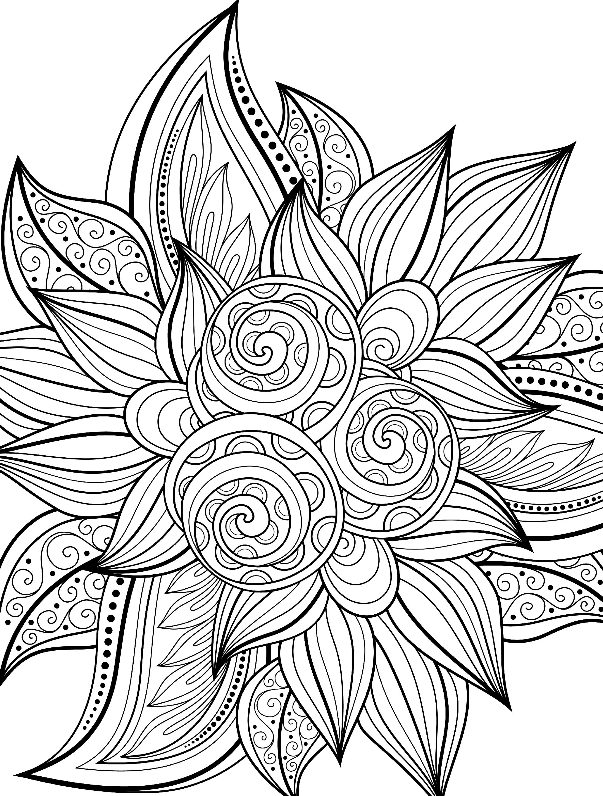 Swirls Printable Free Coloring Page Coloring Pages Pinterest