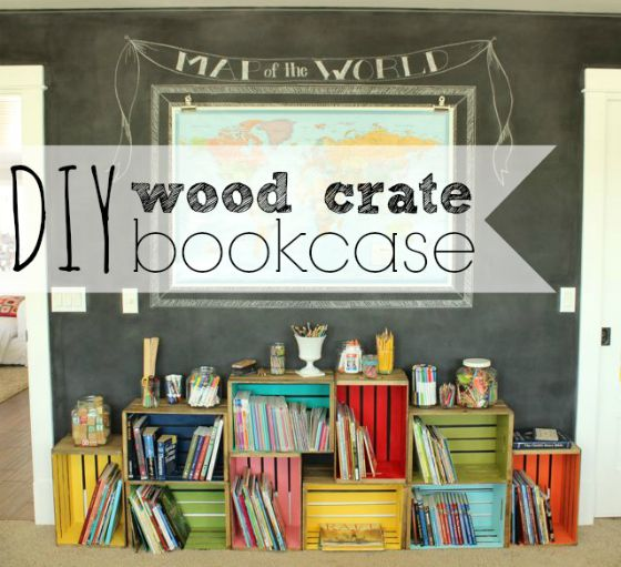 diy wood crate bookcase +  $250 home depot gift card giveaway #BountyChallenge {sponsored giveaway}