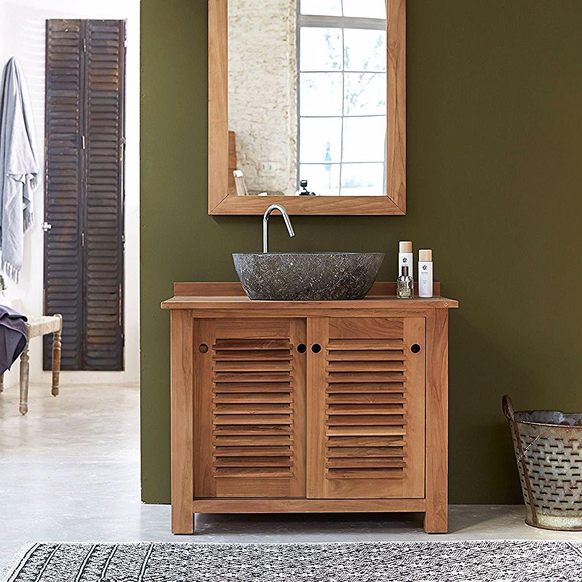 Solid Teak Wood Vanity Cabinet Wash Stand Modern Design Bathroom Furniture In 2020 Teak Bathroom Brown Bathroom Decor Green Bathroom Decor
