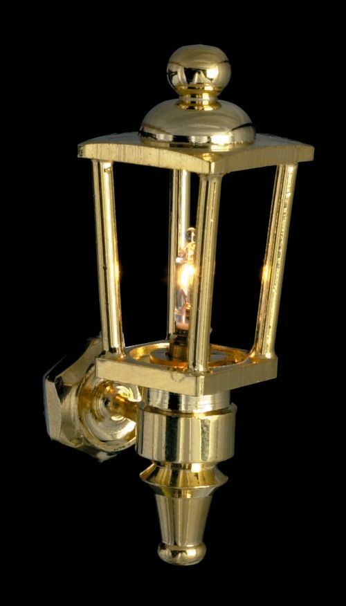 Brass Carriage Lamp 12v Mary S Dollhouse Miniatures Carriage Lamps Lamp Brass Wall Light
