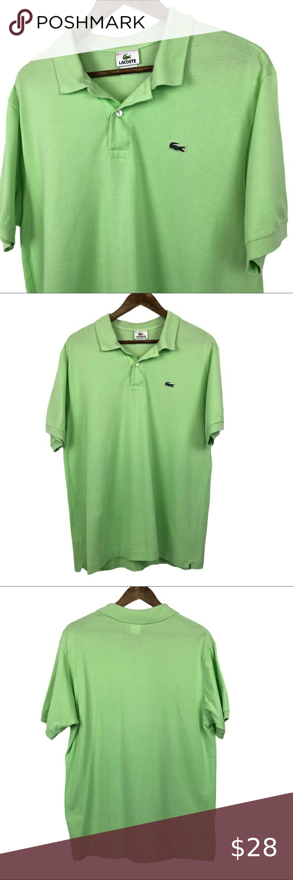 Lacoste Green Polo Shirt Size 6 Large Men S Green Polo Shirts Lacoste Shirts