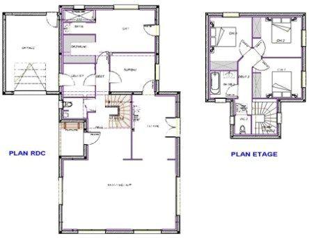 Maisons d'en France Sud Ouest - Contemporaine_ Tse-plan (avec images) | Plan maison, Maison ...