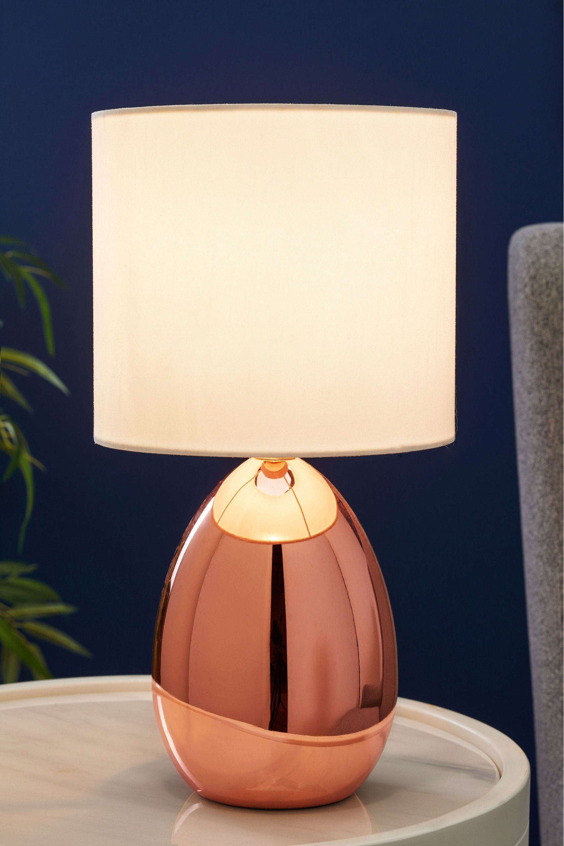 Next Droplet Touch Table Lamp Copper With Images Touch Table Lamps Touch Lamp Copper