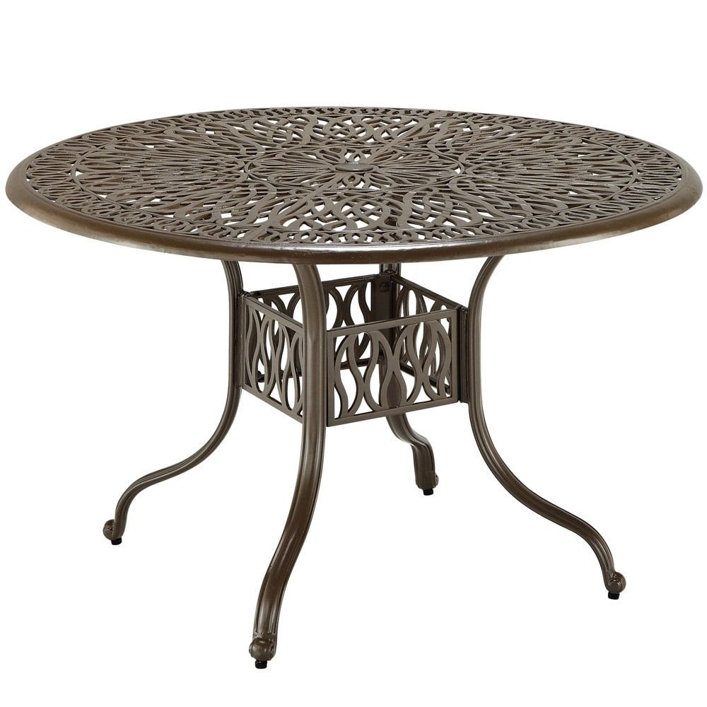 Havenside Home Boothbay Floral Blossom 48 Inch Round Dining Table
