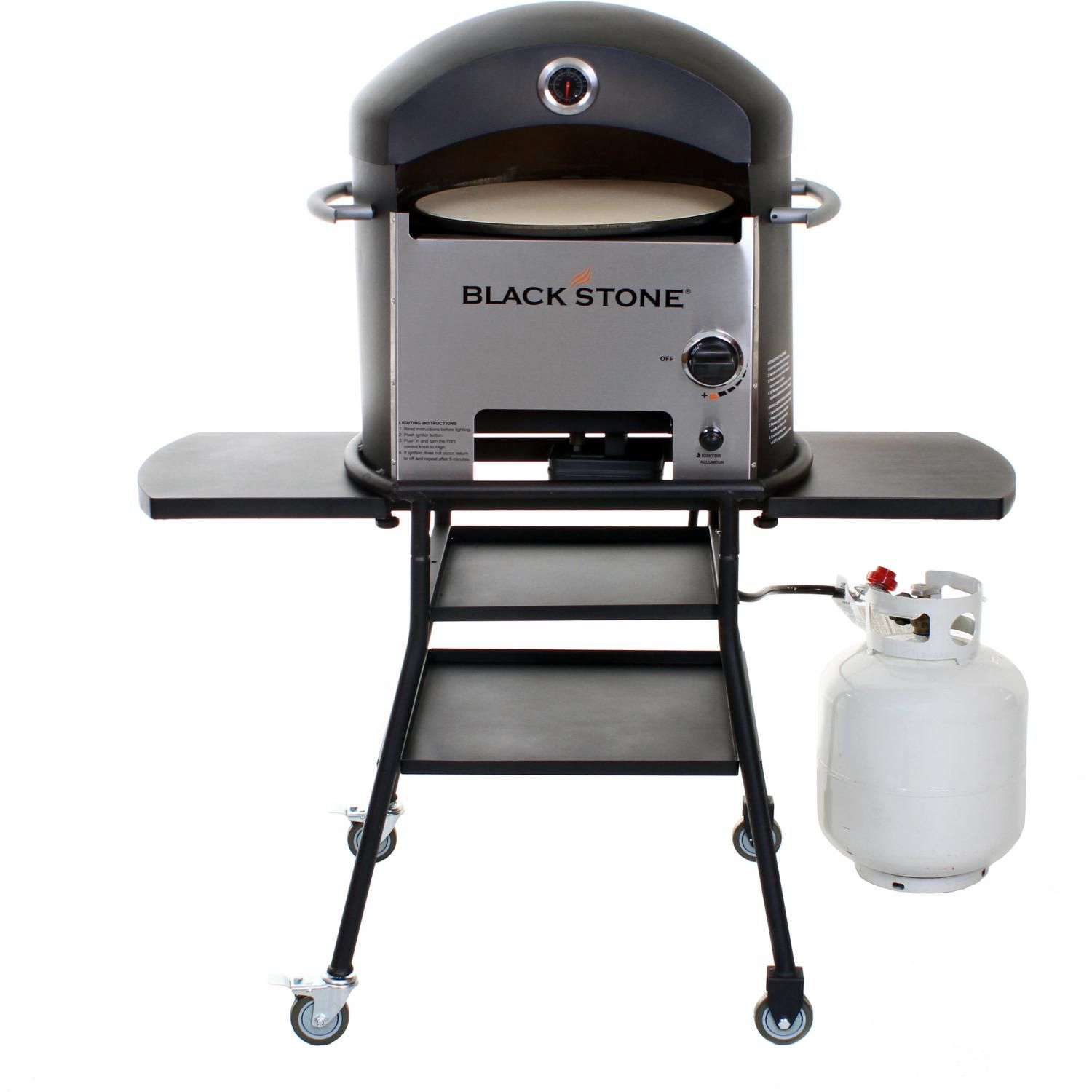 Blackstone Propane Gas Outdoor Convection Pizza Oven On Cart 1575 ...