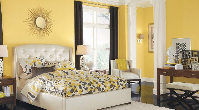 pittura-pareti camera da letto-giallo-chiaro | INTERIOR DESIGN ...