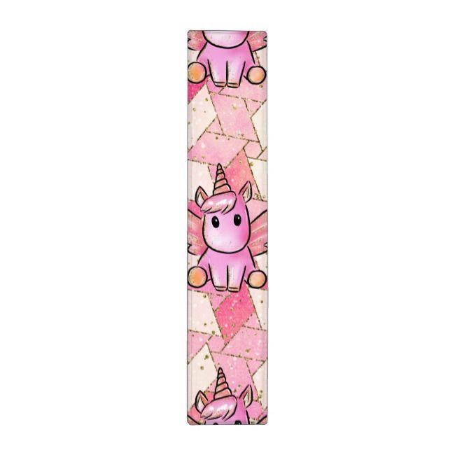 Modern Pink Purple Pattern Cute Unicorn Wings 3 Ring