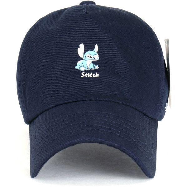 3a83bb0b0a5 Disney Lilo Stitch Cute Logo Cotton Adjustable Curved Hat Baseball ...