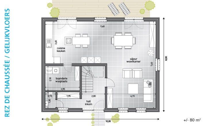 Maisons Blavier nouvelle construction BL 276 plans maison rez - plan de maison sur terrain en pente