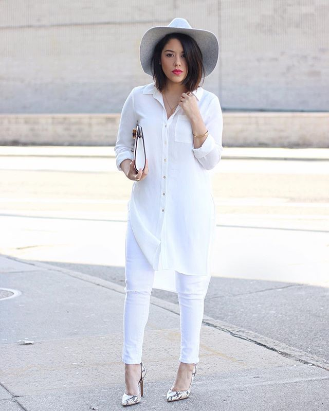 Pin For Later  Outfits Thatll Turn White Jeans Into Your Most Versatile Pair Of Pants With An Oversize White Button Down Snakeskin Heels