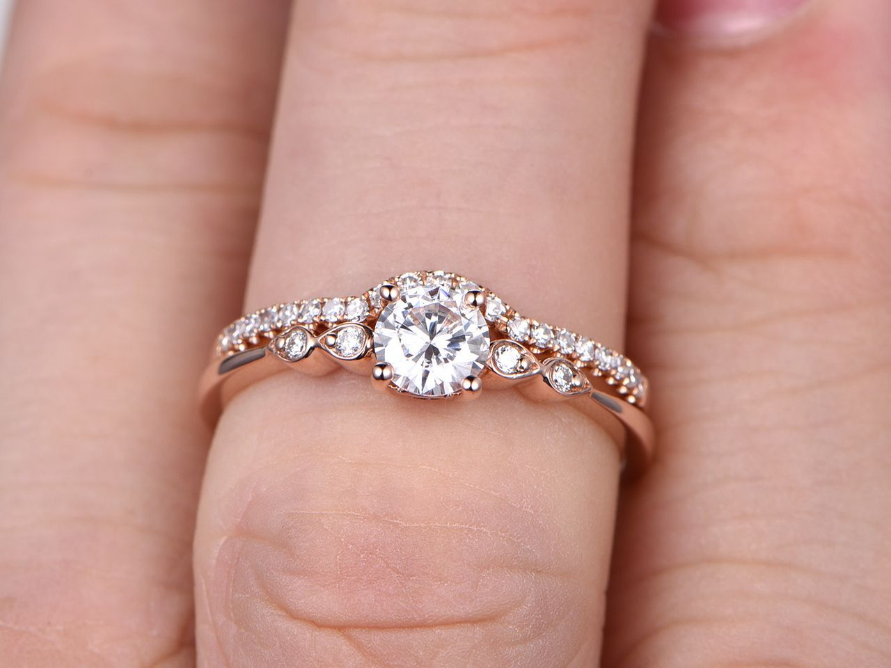 Moissanite wedding ring set,BBBGEM have Forever Class,Forever ...