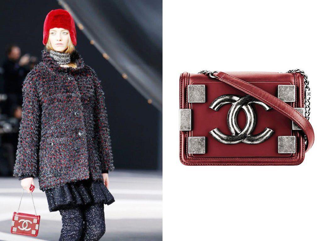 b963577ec4af Chanel Dark Red Boy Brick Flap Small Bag Fall 2013