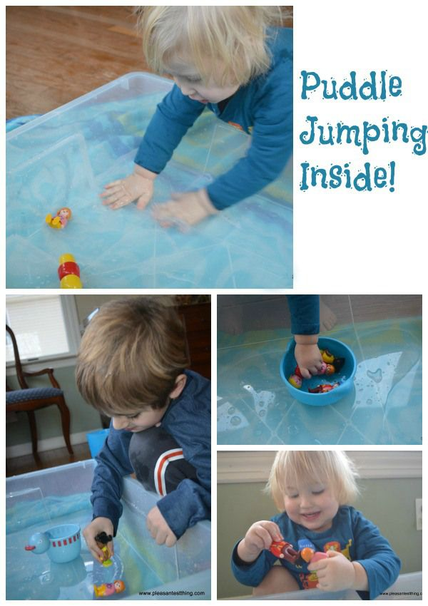 Rainy day indoor toddler game