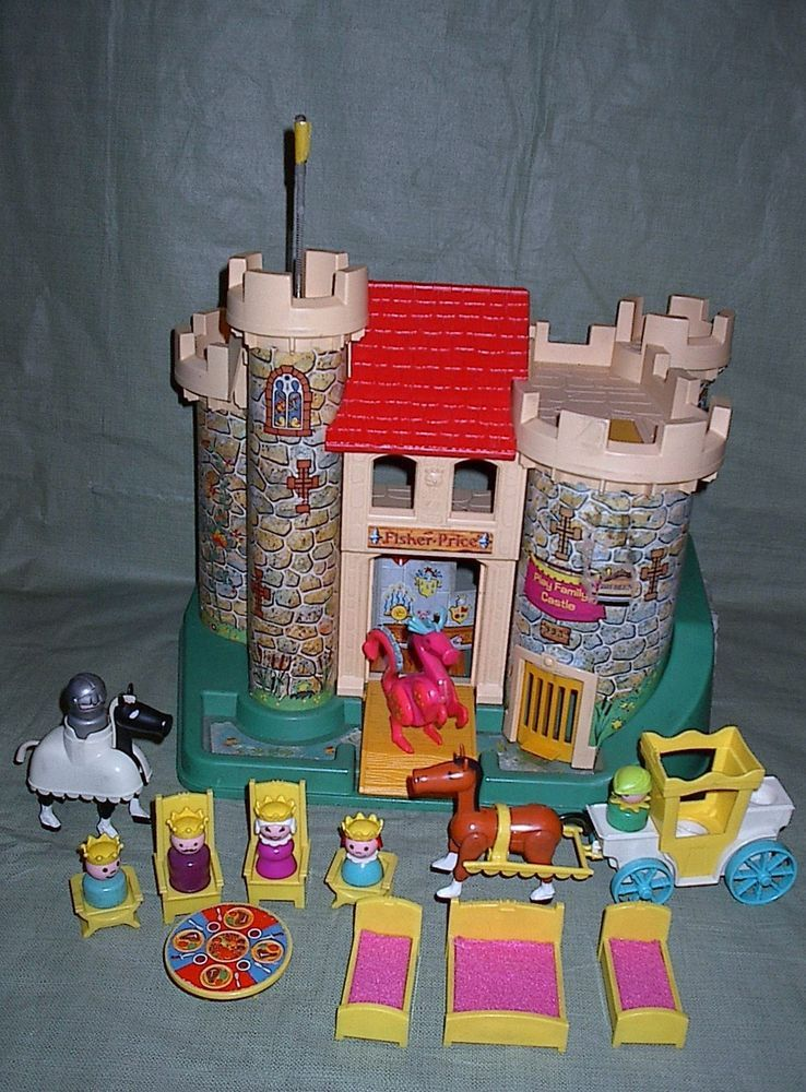 vintage fisher price little people castle 993 accessories fisher
