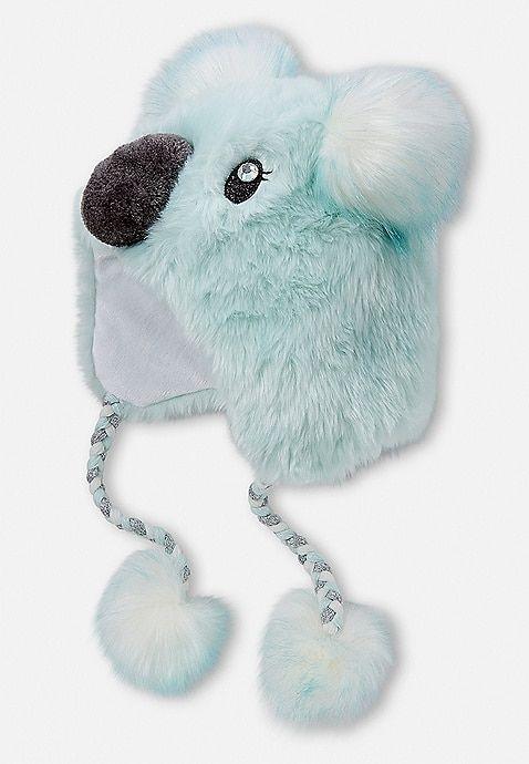 Justice Koala Earflap Beanie Blue