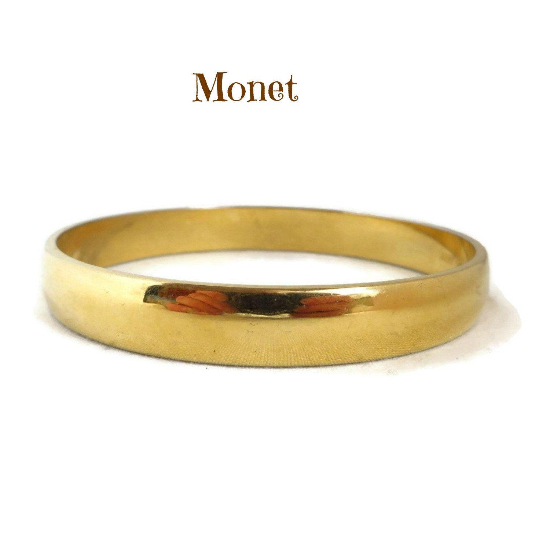 Vintage Monet  Gold Tone Bangle