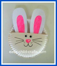 paper plate bunny craft & paper plate bunny craft | He is Risen/Easter PreK Theme | Pinterest ...