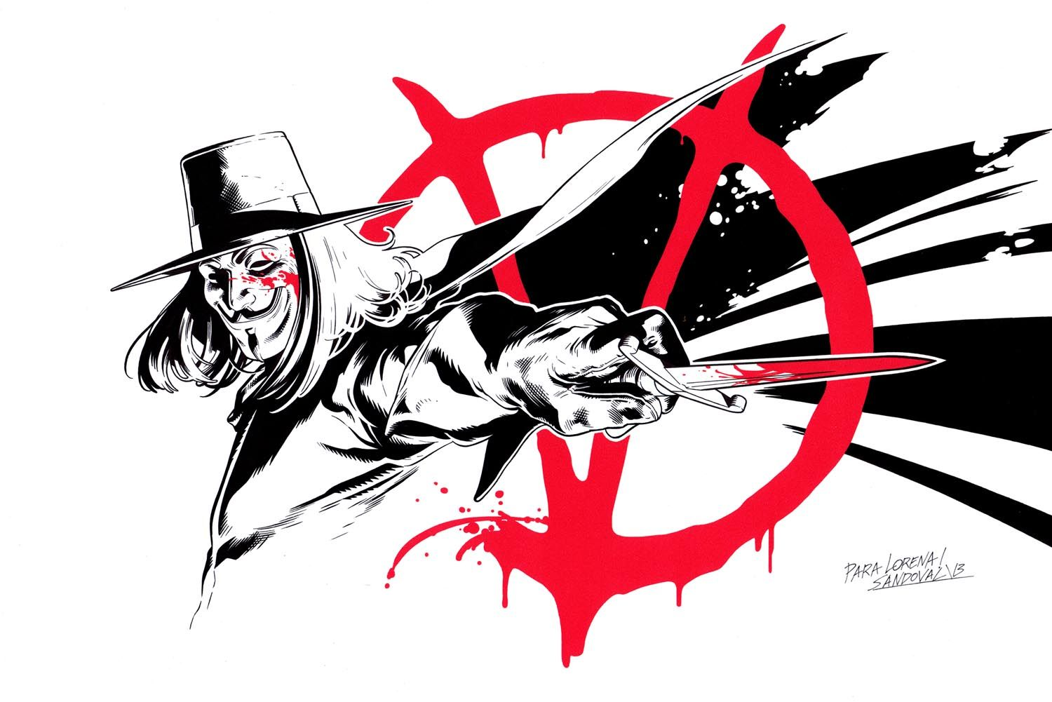 V For Vendetta Commission By Sergiosandoval Deviantart Com On Deviantart V For Vendetta V For Vendetta Tattoo Vendetta
