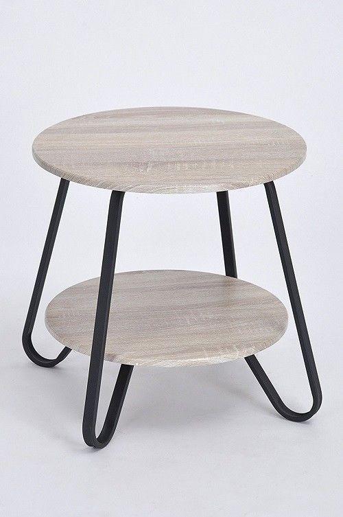 Industrial Side Table Furniture Living Room Round Coffee Tier End - 2 tier round coffee table