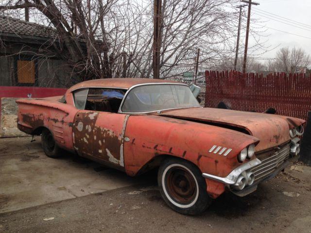 1958 Chevy Impala Americancars Barn Find Cars Junkyard Cars Old American Cars