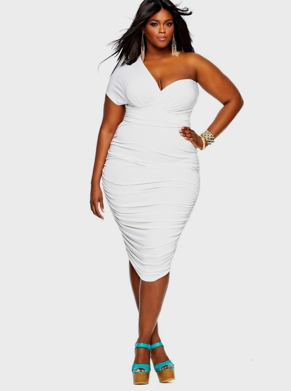 Size plus white dresses cheap best photo