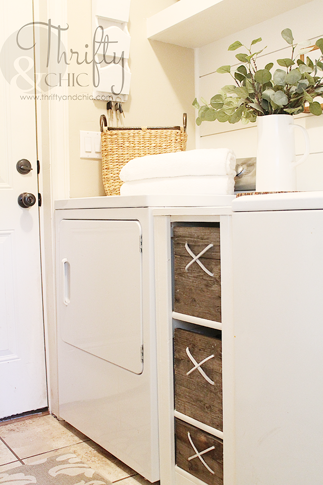 Diy Laundry Room Storage For In Between Washer And Dryer Diy