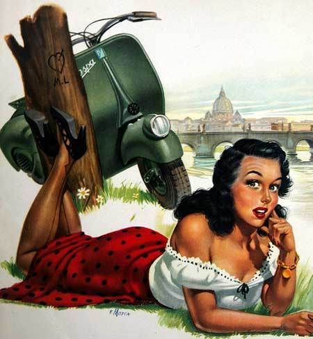 1960 s vintage vespa pin up shoot pinterest vespa. Black Bedroom Furniture Sets. Home Design Ideas