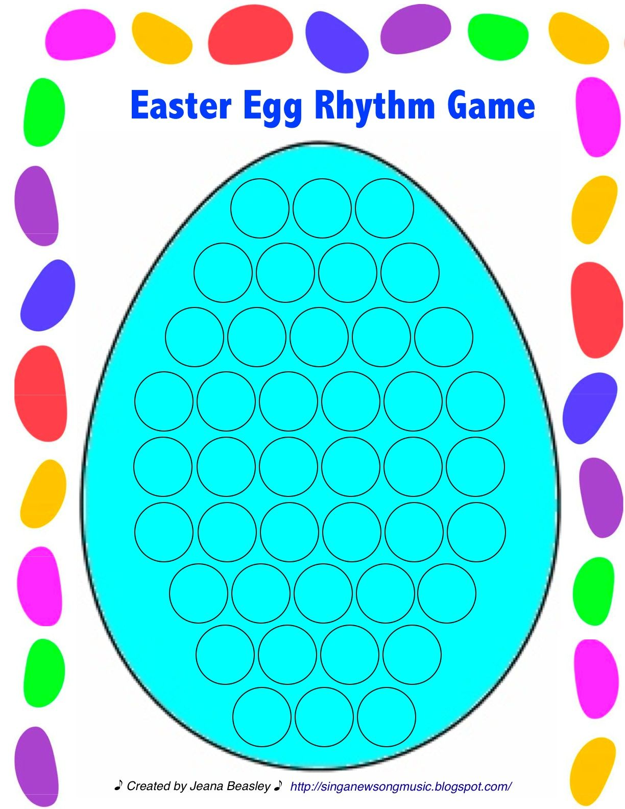 Easter Egg Rhythm Worksheet