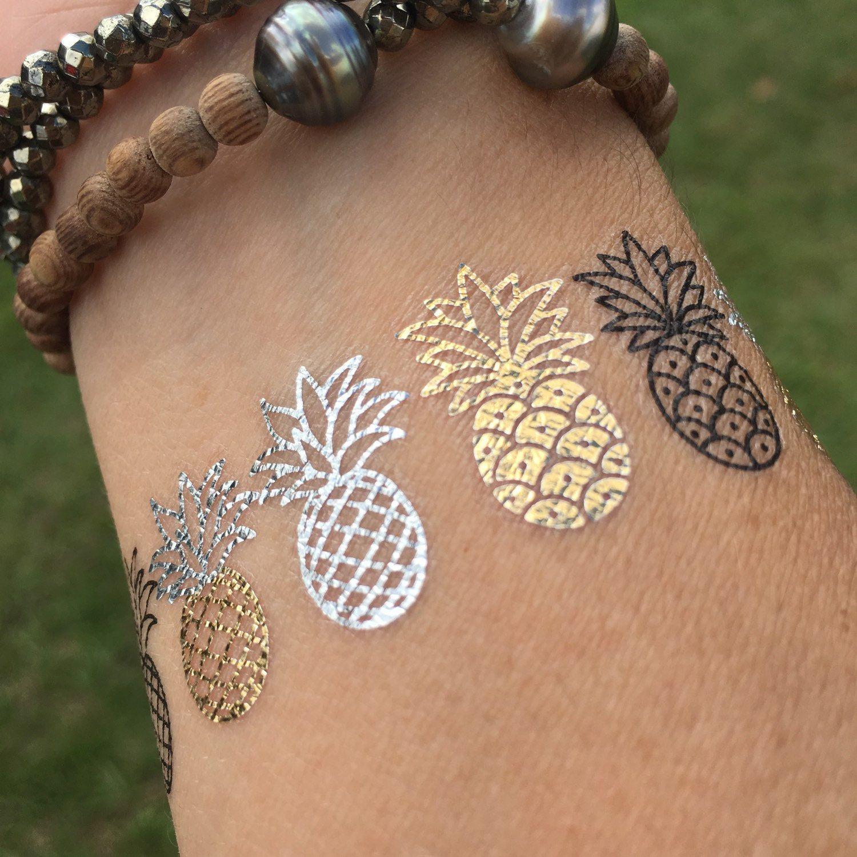 Henna Tattoo Beach: Pineapple Party * Perfect Bikini Accessory * Temporary